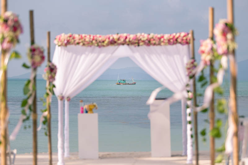 belmond napasai koh samui beach sand pink wedding package price 10