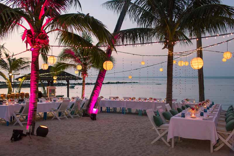 belmond napasai koh samui beach sand pink wedding package price 22