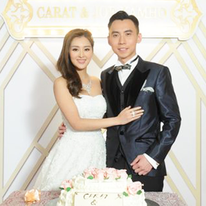 Former Miss Hong Kong, Carat Cheung & Joe Choy at Intercontinental Hotel, Hong Kong