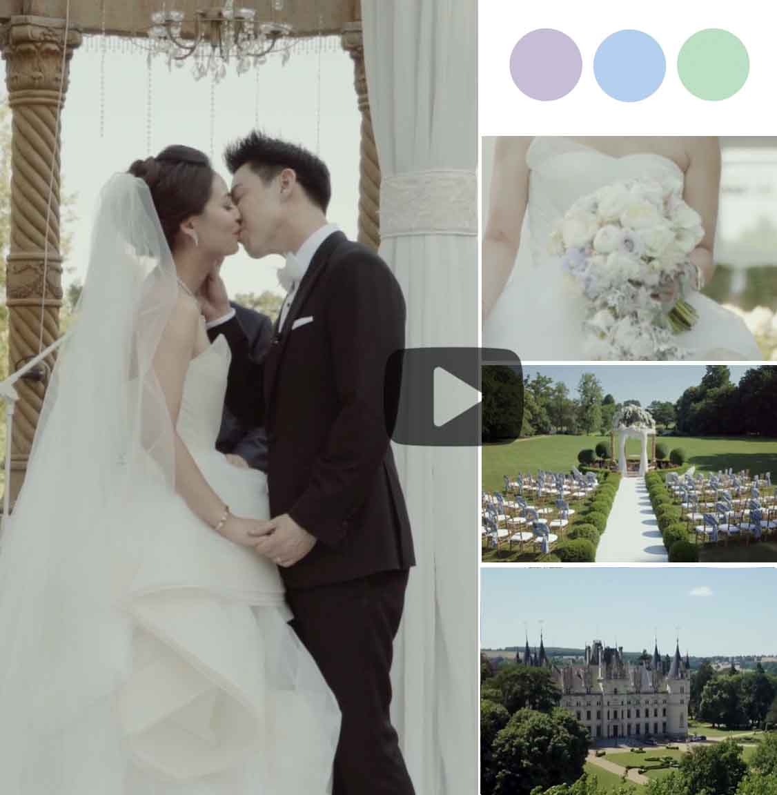 The Groom Arrived Via Helicopter to this Breathtaking French Cheateau Wedding [Chateau Challain]