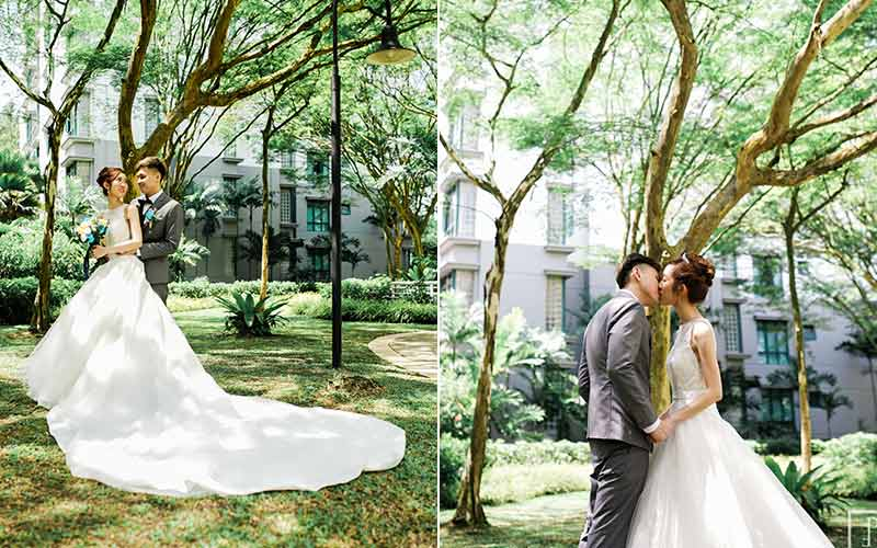 Garden By The Bay Ballroom a sweet singapore wedding with natural garden greenery - asia