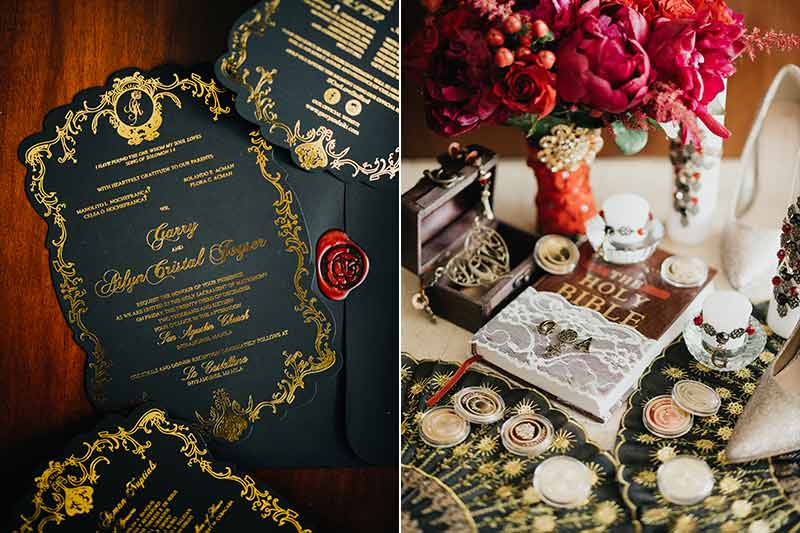 A Spanish Vintage Glam Themed Wedding With Bold Colors Of