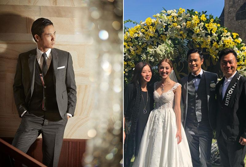Grace Chan Kevin Cheng The Bvlgari Resort Bali Groom Suit Thom Browne