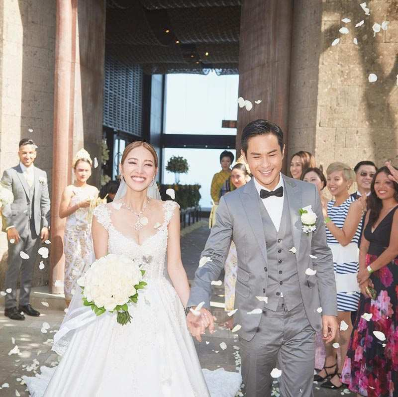 Grace Chan Kevin Cheng The Bvlgari Resort Bali Wedding Dress Noel Chu Atelier