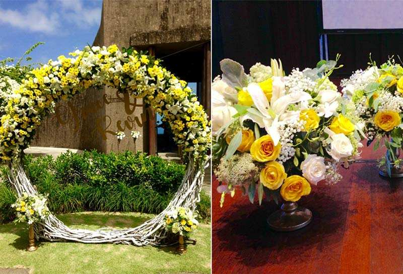 Grace Chan Kevin Cheng The Bvlgari Resort Bali Wedding Venue Decoration Floral