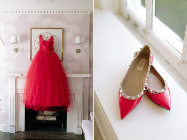 Grace Yulin Toronto Wedding Story Valencienne Evening Gown Valentino Shoes