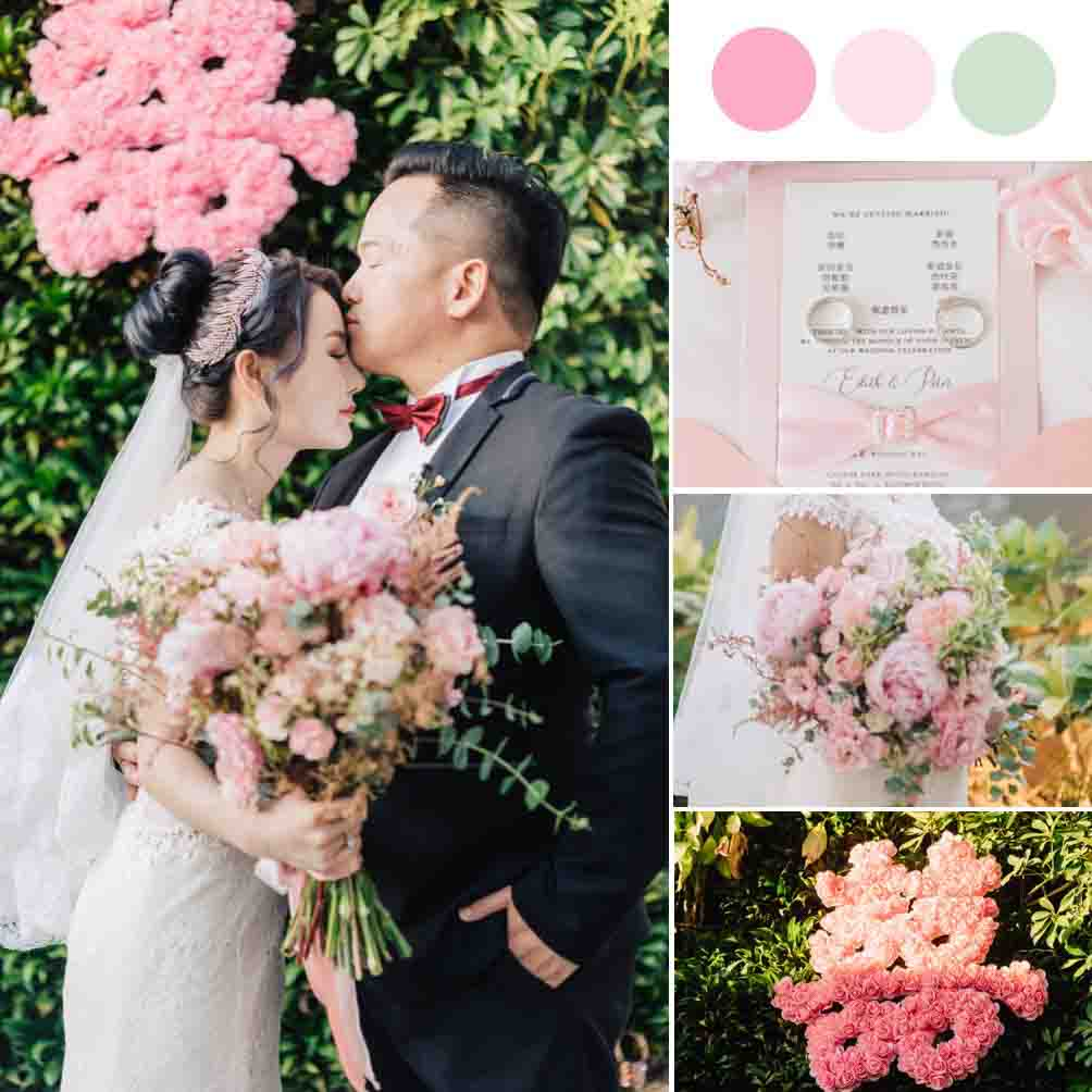 A Charming Lush Green Rooftop Wedding - Perfectly Planned in Less Than 10 Days [Caesar Park Hotel Banqiao]