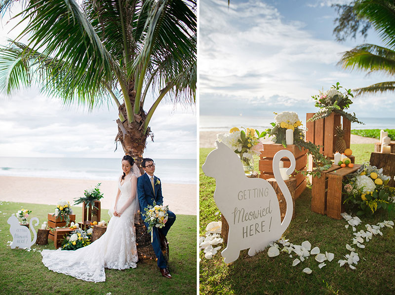 aleenta phuket wedding cat themed wedding boutique ilaire planner review 36