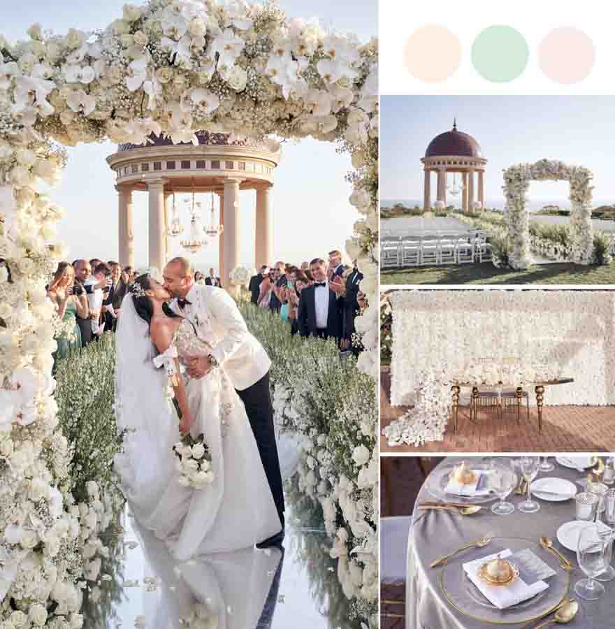 A Super Dreamy Truly Luxurious All White Wedding [Pelican Hill]