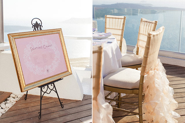 Luna Kevin Santorini Wedding Decoration Photographer Roberta Facchini 4