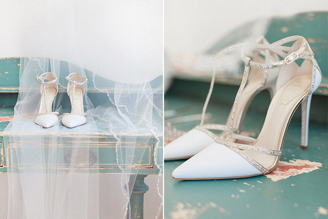 Luna Kevin Santorini Wedding Shoes Rene Caovilla Photographer Roberta Facchini 1