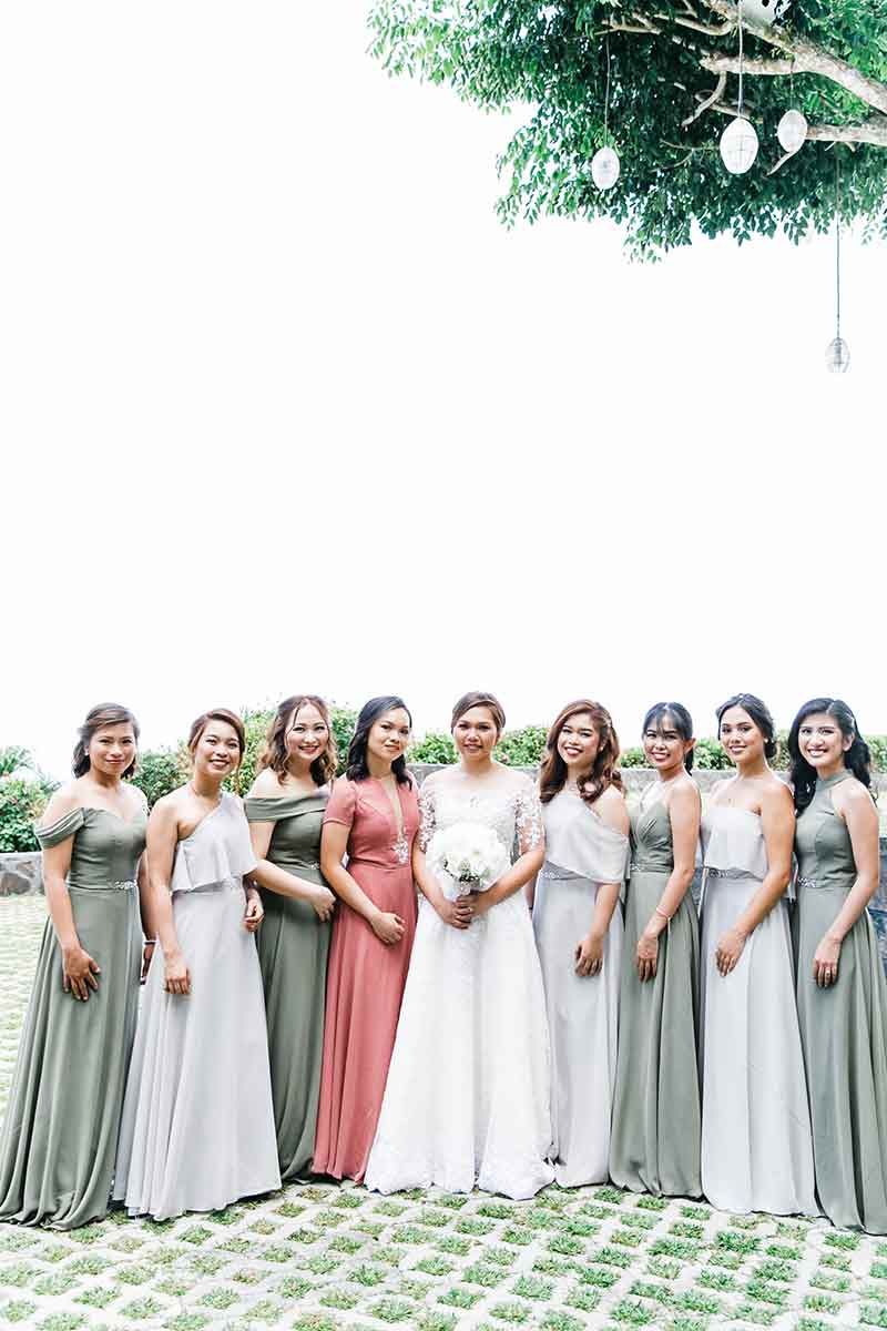 Manila Green White Garden Wedding 7
