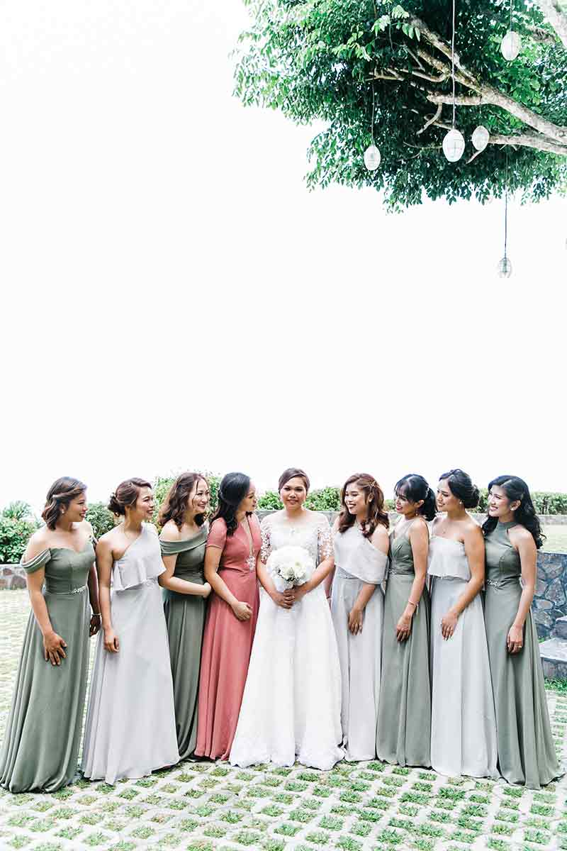 Manila Green White Garden Wedding 8