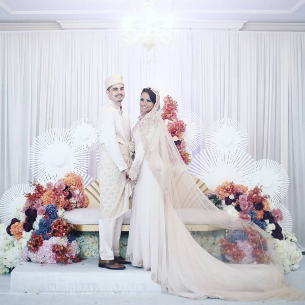 Nadiah M Din And Bilal Jeanpierre Wedding Solemnization Ceremony The Colonial At Scotts Singapore 1
