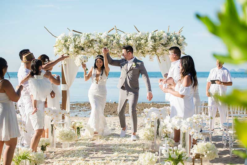 An All-White, Amazingly Romantic Small, Intimate Beach