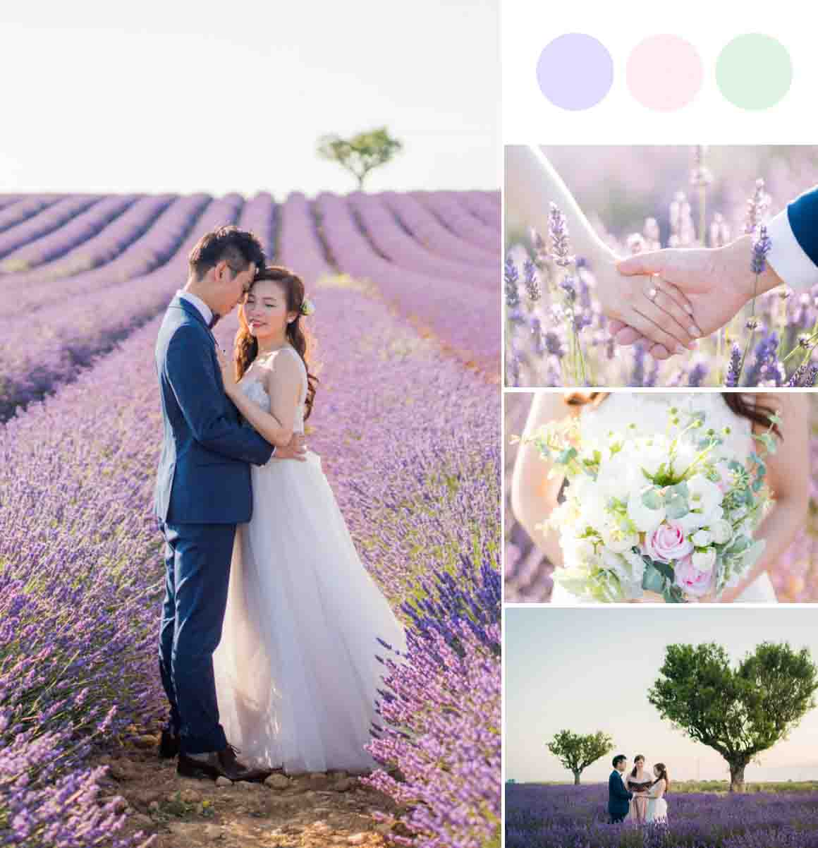 A Perfect Provence Elopement in a Sea of Romantic Lavender Fields