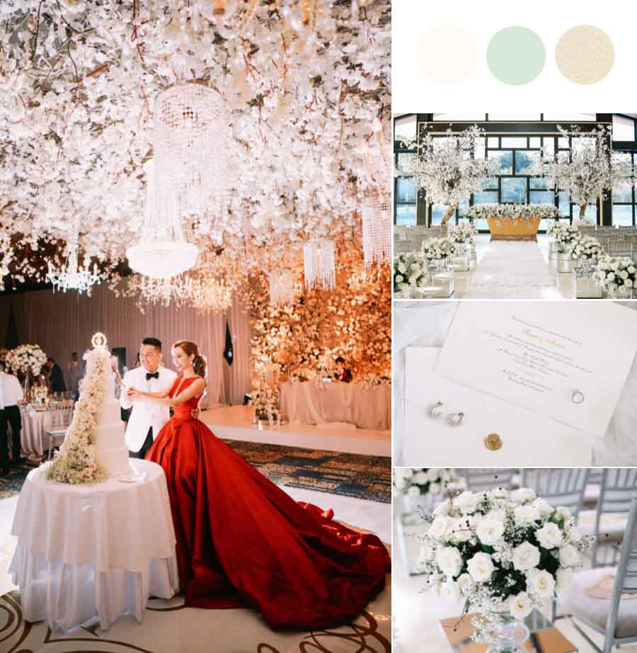 This Model Added Sakura Trees to Her Glam Bali Wedding [The Mulia Bali]