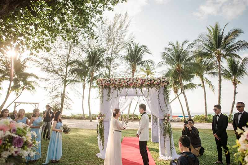 Shangrila Rasa Sayang Resort Wedding Ceremony Bridal Reception Beach Venue 26