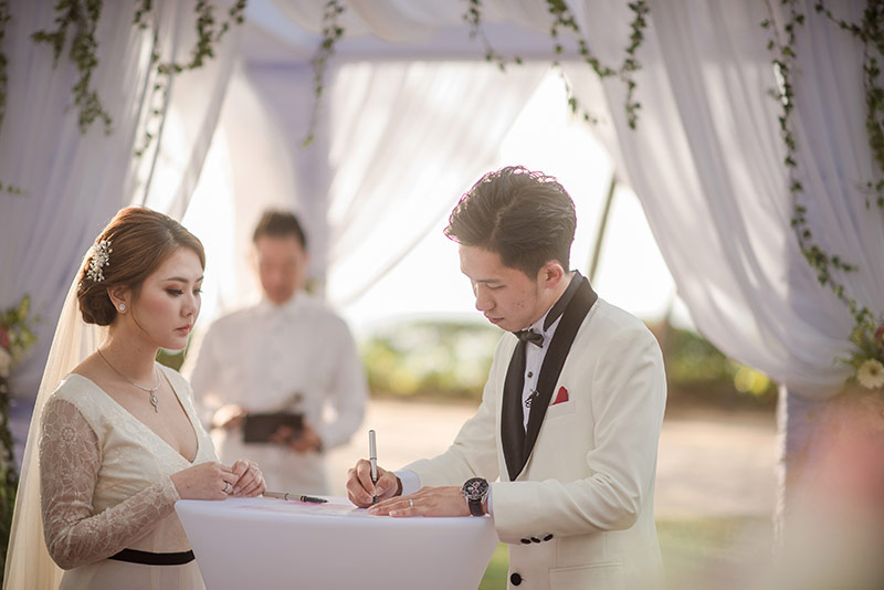 Shangrila Rasa Sayang Resort Wedding Ceremony Bridal Reception Beach Venue 30