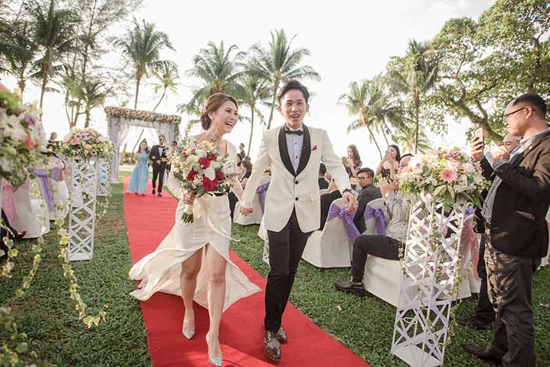 Shangrila Rasa Sayang Resort Wedding Ceremony Bridal Reception Beach Venue 32