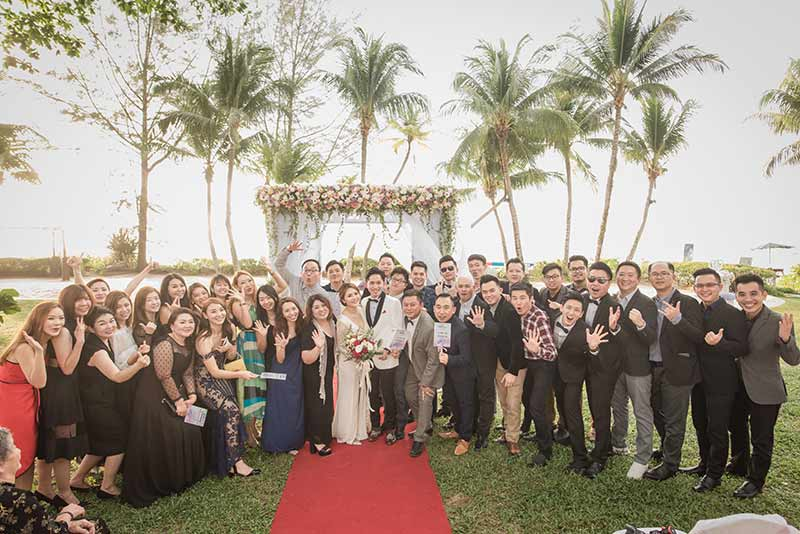 Shangrila Rasa Sayang Resort Wedding Ceremony Bridal Reception Beach Venue 34