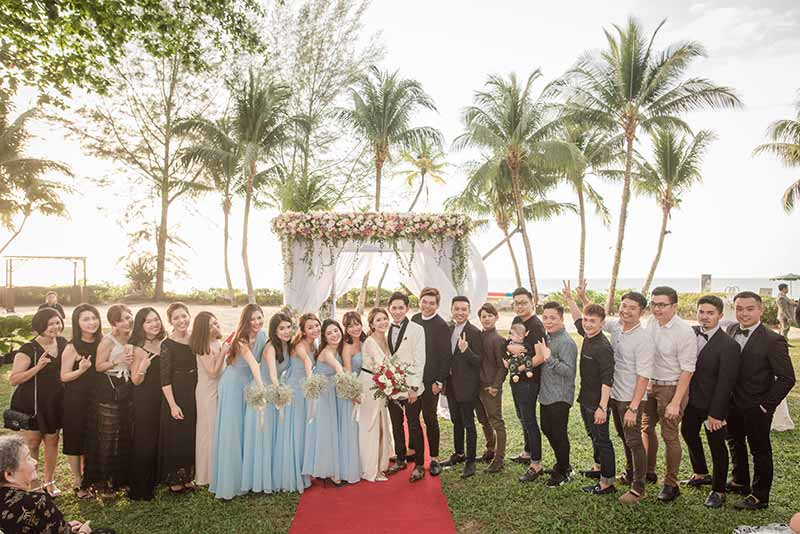 Shangrila Rasa Sayang Resort Wedding Ceremony Bridal Reception Beach Venue 35