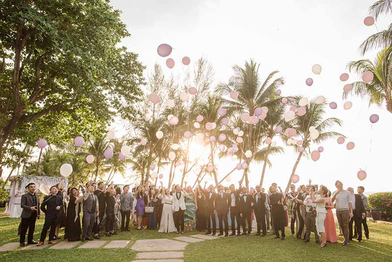 Shangrila Rasa Sayang Resort Wedding Ceremony Bridal Reception Beach Venue 37