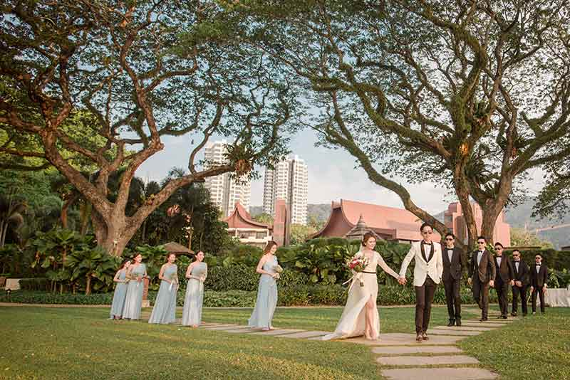 Shangrila Rasa Sayang Resort Wedding Ceremony Bridal Reception Beach Venue 38