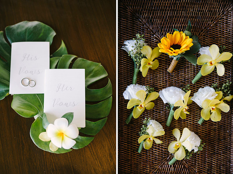 Sunflower Barefoot Beach Wedding 7
