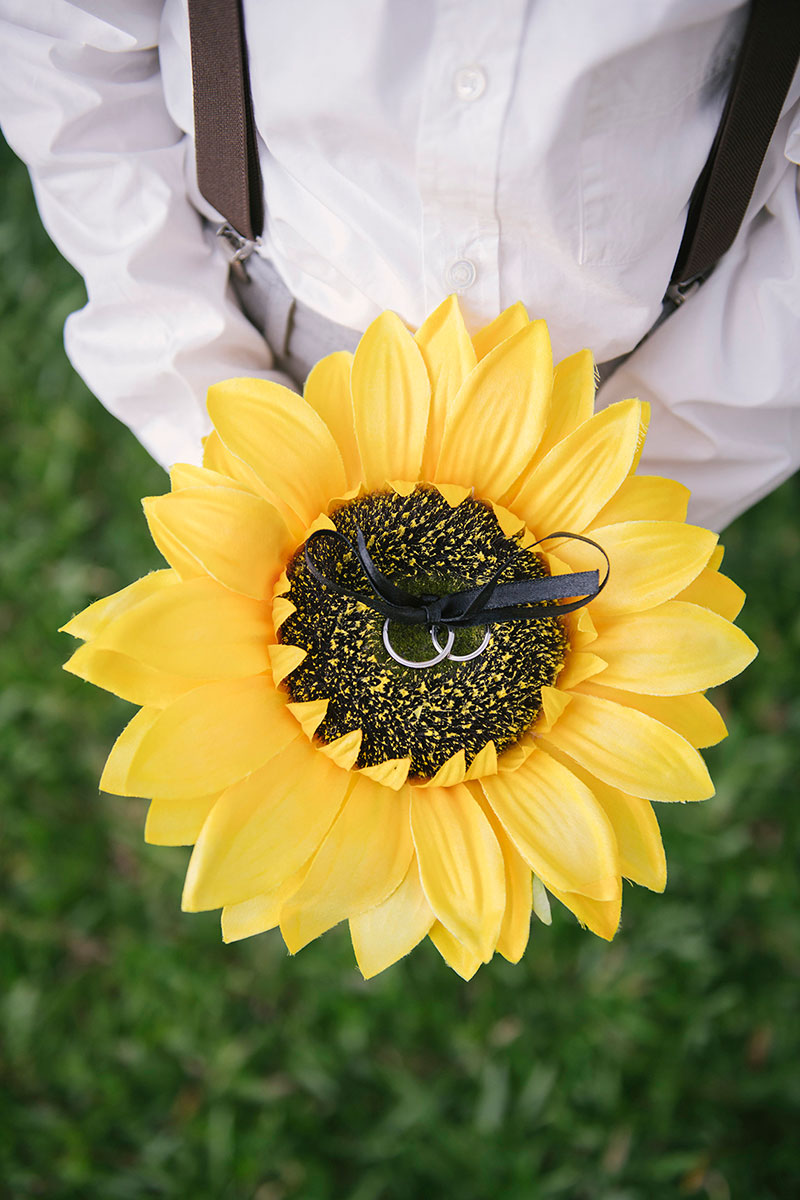 Sunflower Barefoot Beach Wedding 16