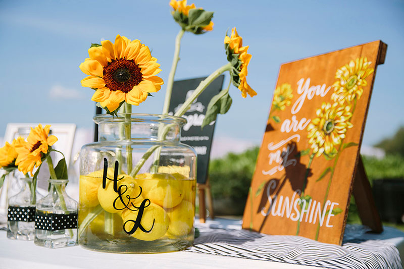 Sunflower Barefoot Beach Wedding 18