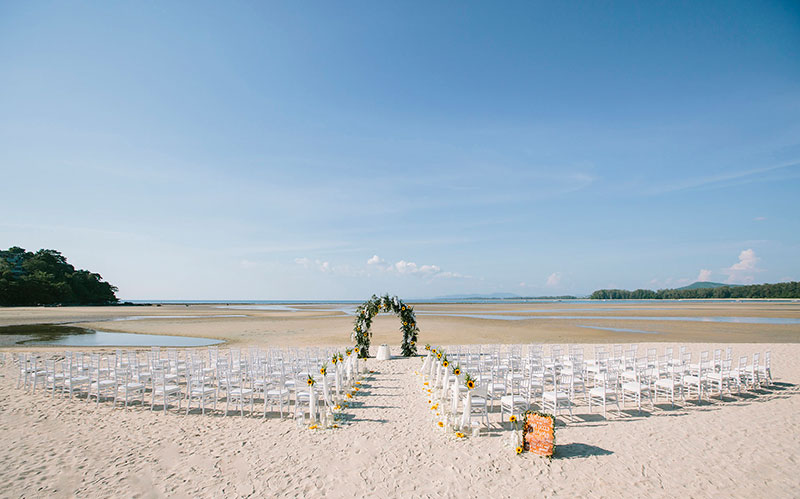 Sunflower Barefoot Beach Wedding 21