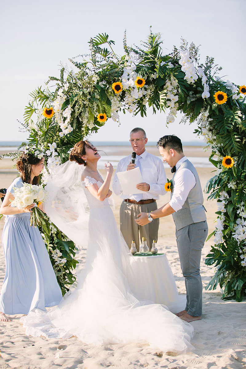 Sunflower Barefoot Beach Wedding 22