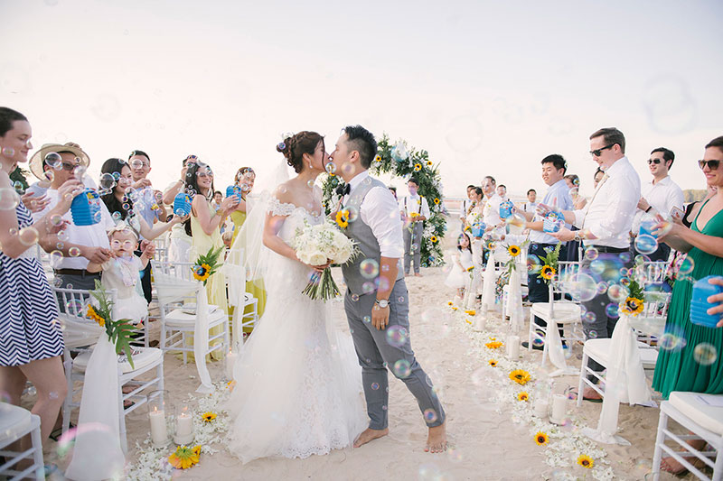 Sunflower Barefoot Beach Wedding 23
