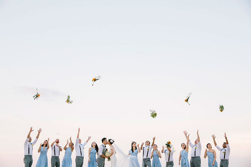 Sunflower Barefoot Beach Wedding 24