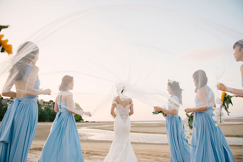 Sunflower Barefoot Beach Wedding 25