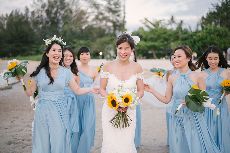 Sunflower Barefoot Beach Wedding 26
