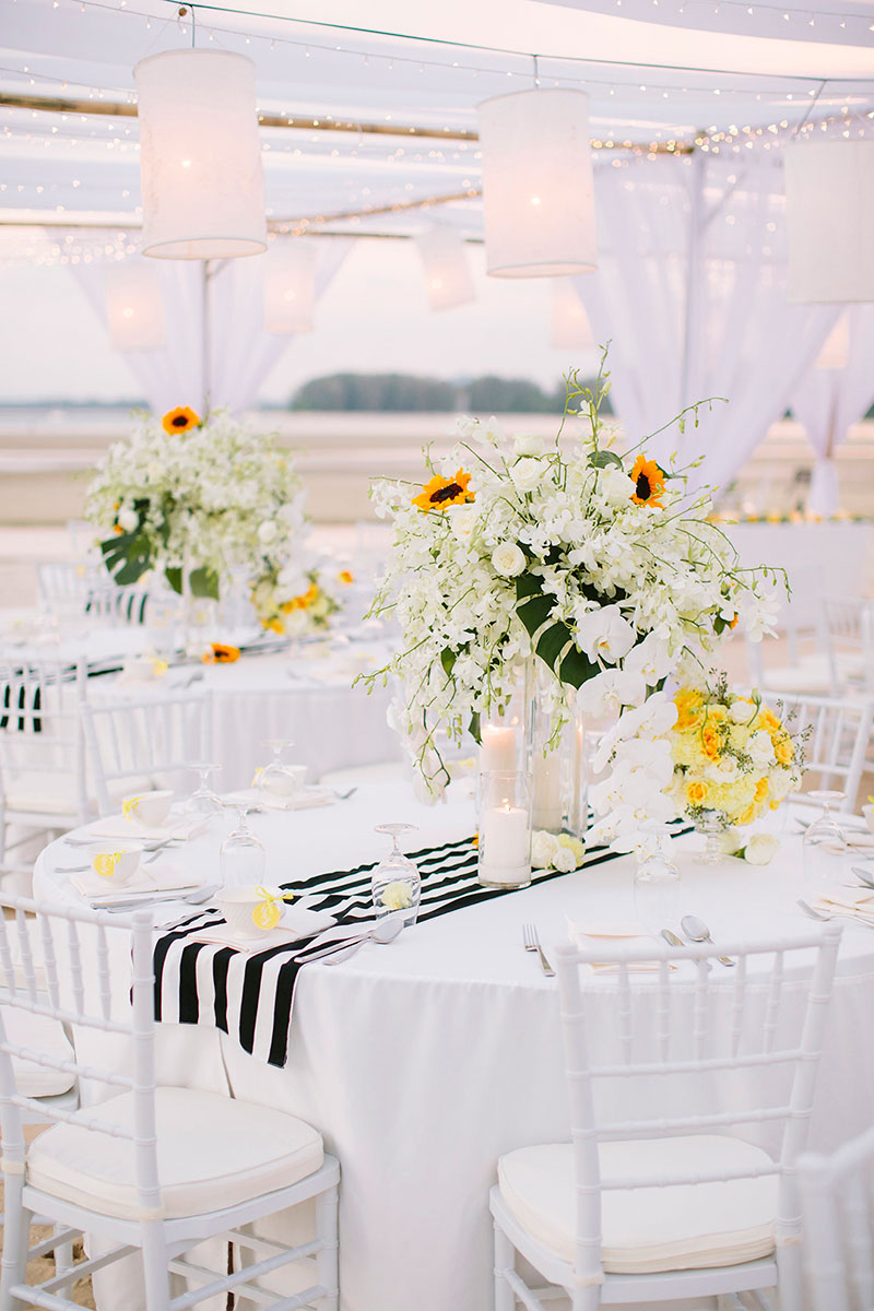 Sunflower Barefoot Beach Wedding 31