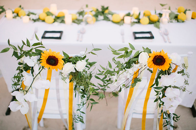 Sunflower Barefoot Beach Wedding 33