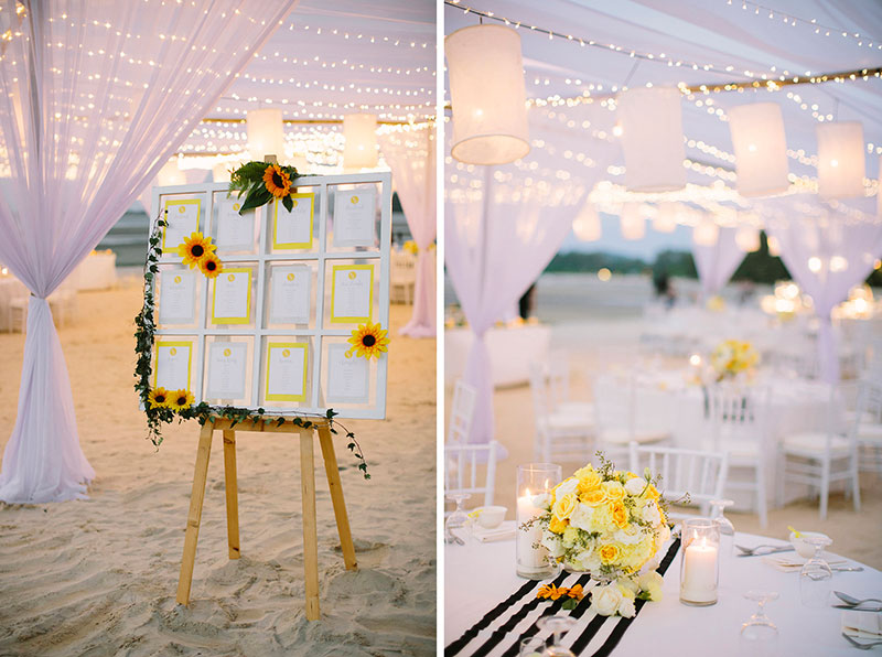 Sunflower Barefoot Beach Wedding 34