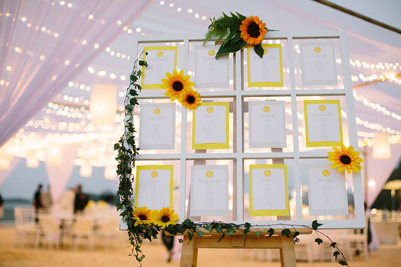 Sunflower Barefoot Beach Wedding 35