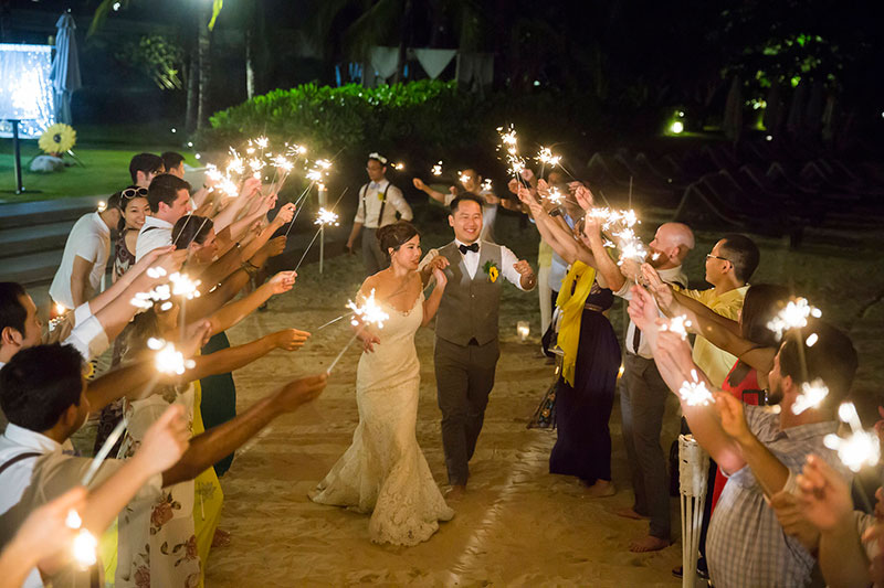 Sunflower Barefoot Beach Wedding 38