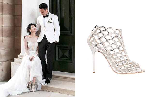 Sunny Wang Dominique Tsai Wedding Bridal Shoes Sergio Rossi Mermaid 1