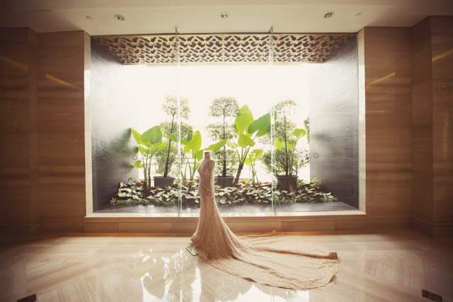 A breathtaking crystal pearl embroidered gown for a champagne yongke and anjela at the trans luxury hotel bandung indonesia real wedding story 9 junglespirit Image collections
