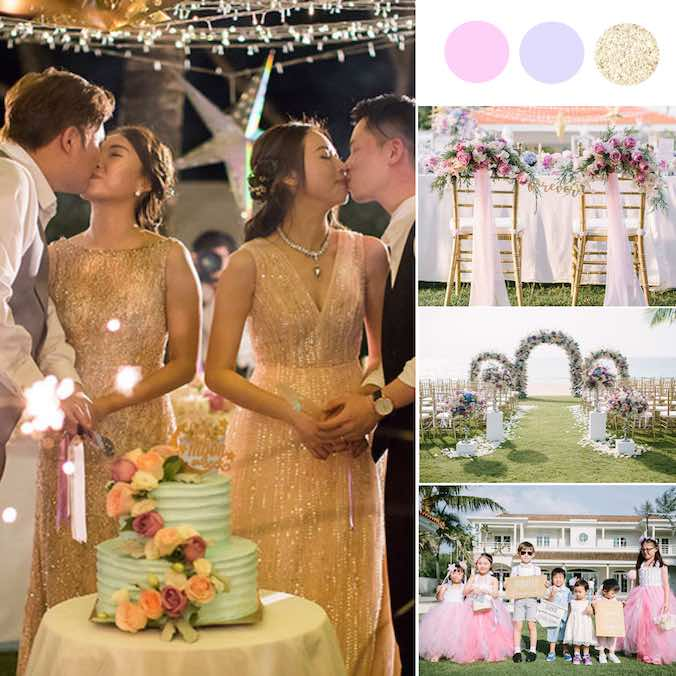 Two Couples, One Wedding! This Double Couple Destination Beach Wedding is The Sweetest! [Aleenta Phuket]