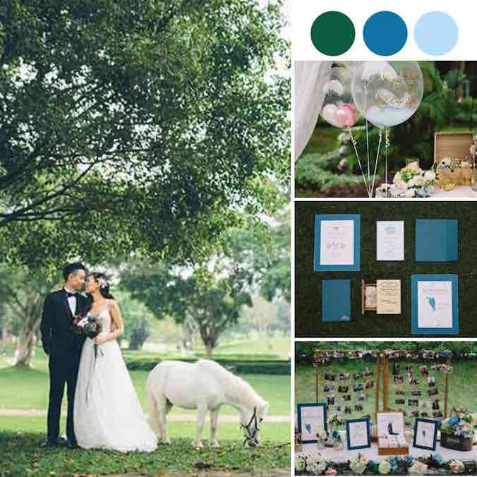 A Beautiful Blue Marquee Wedding at Beas River Country Club in Hong Kong