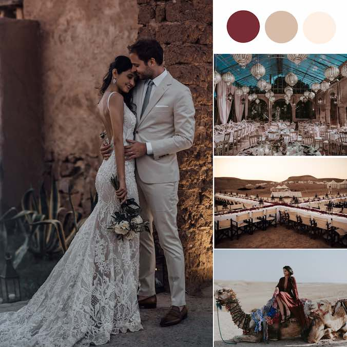 The Dreamiest Indie Boho Morocco Wedding You've Ever Seen [The Beldi Country Club]