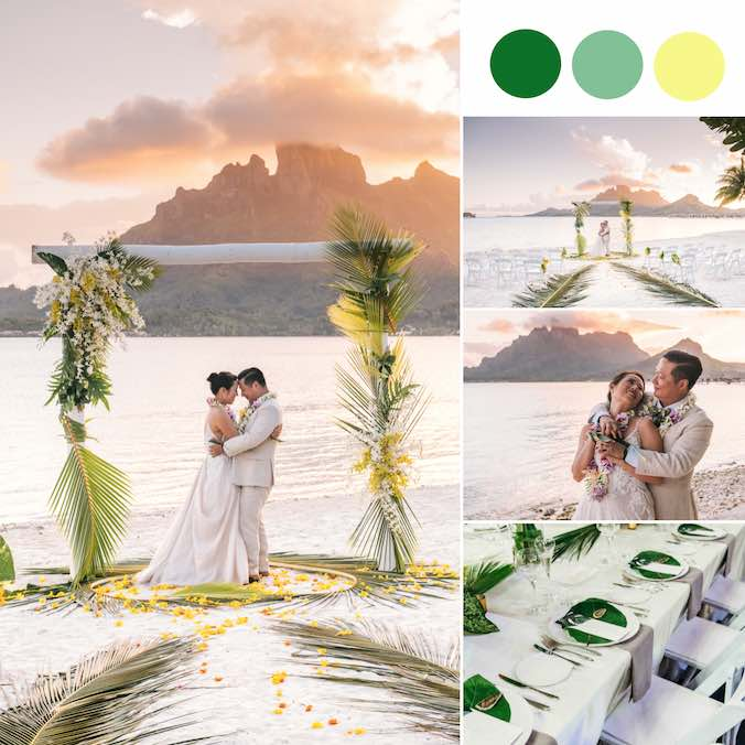A Bora Bora Beach Wedding With the Prettiest Polynesian Details
