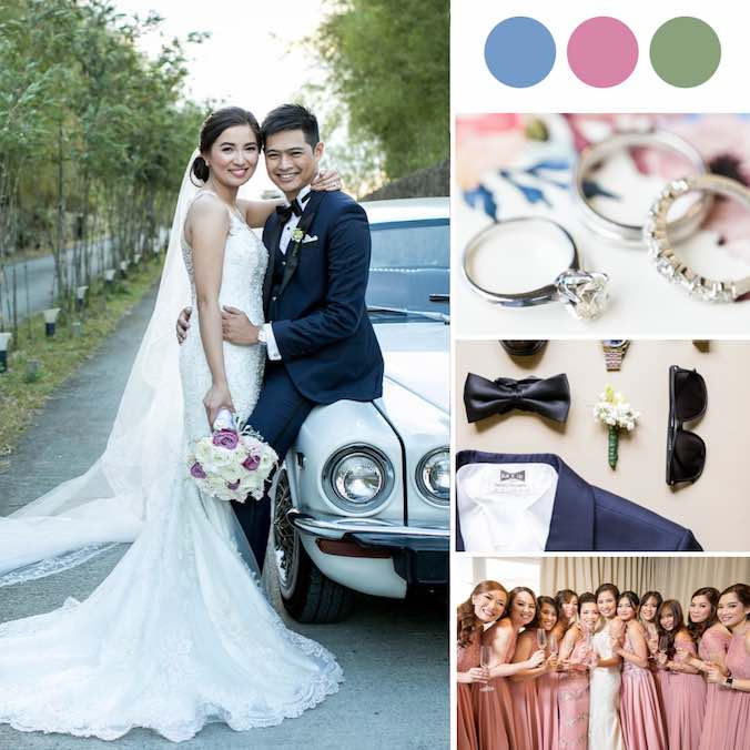 A Truly Rustic Wedding With Dusty Pinks & Dusty Blues