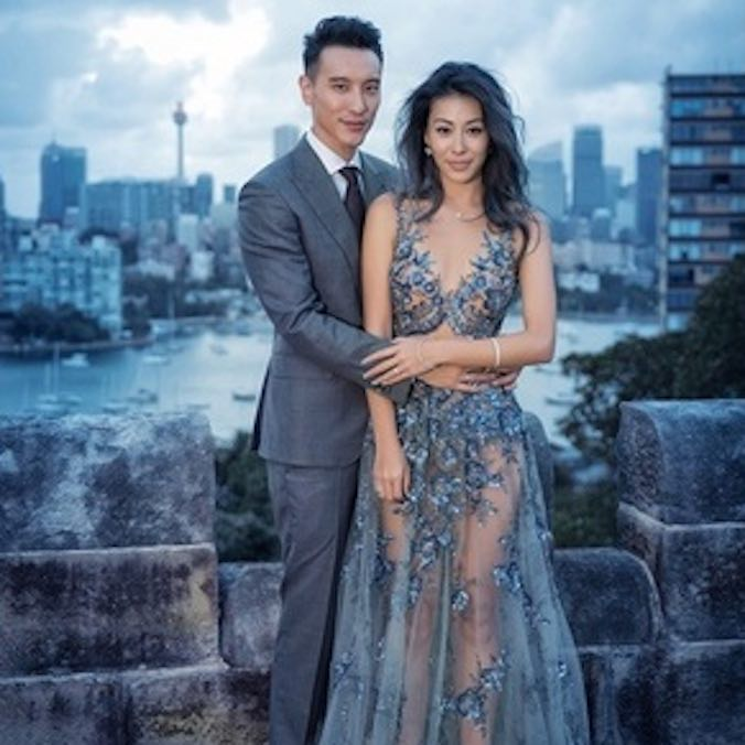 Taiwanese Actor, Sunny Wang & Taiwanese-Australian Singer, Dominique Tsai at Swifts Mansion, Sydney